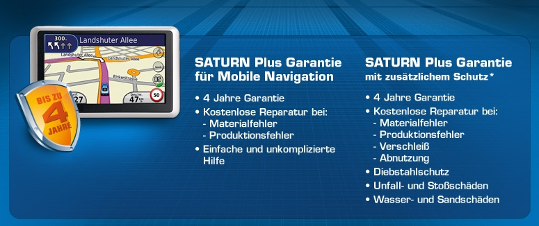 Saturn Plus Garantie Mobile Navigation