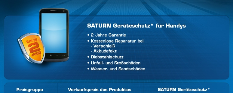 Saturn Plus Garantie Handy