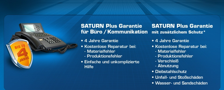 Saturn Plus Garantie Büro / Kommunikation