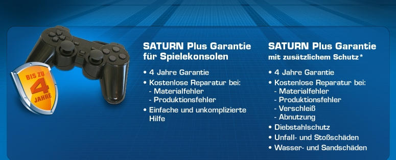 Saturn Plus Garantie Konsolen