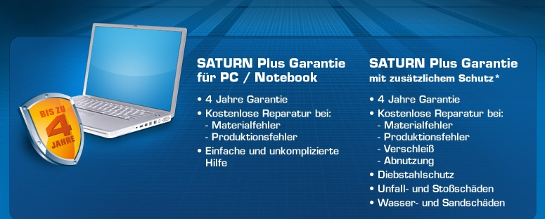 Saturn Plus Garantie PC / Notebook