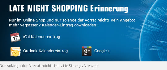 Late Night Shopping Erinnerung